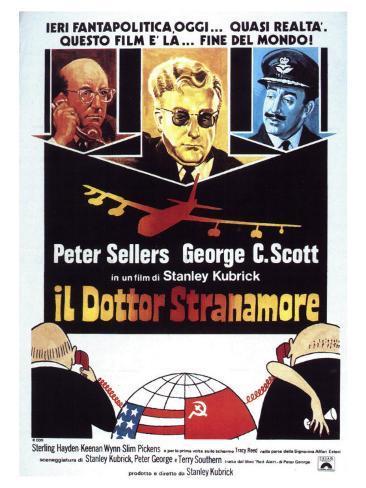 Dr. Strangelove, Italian Movie Poster, 1964 Reproduction d'art