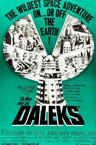 Dr. Who and the Daleks, Peter Cushing, Jennie Linden, Roberta Tovey, 1965 Reproduction d'art