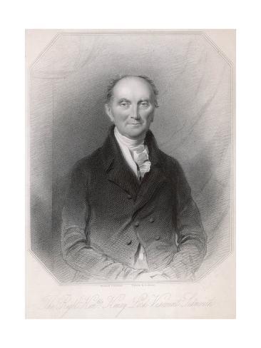 1st Viscount Sidmouth Reproduction procédé giclée