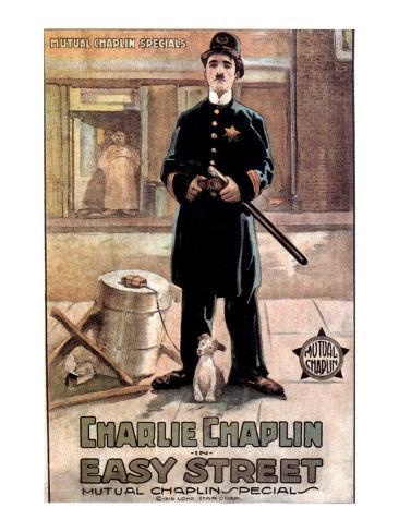 Easy Street, Charlie Chaplin, 1917 Photographie