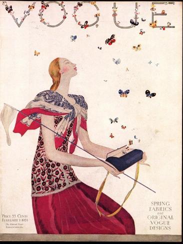 Vogue Cover - February 1924 Reproduction giclée Premium