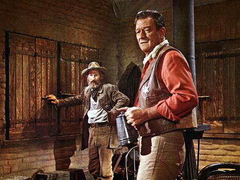 El Dorado, John Wayne, Arthur Hunnicut, 1967 Photographie