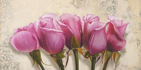 Roses royales Toile tendue sur châssis