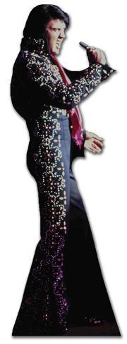 Elvis-Black Jump Suit Silhouettes découpées en carton