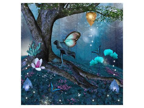 Enchanted Tree in the Forest Reproduction d'art