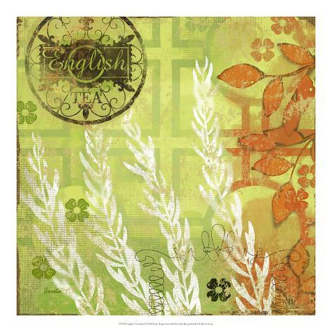 English Tea Garden II Reproduction d'art