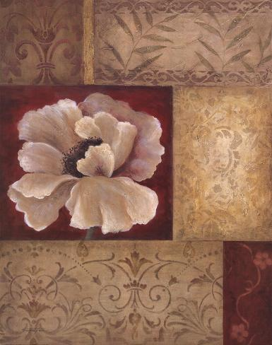 Patchwork Poppy Reproduction d'art