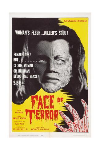Face of Terror Reproduction procédé giclée