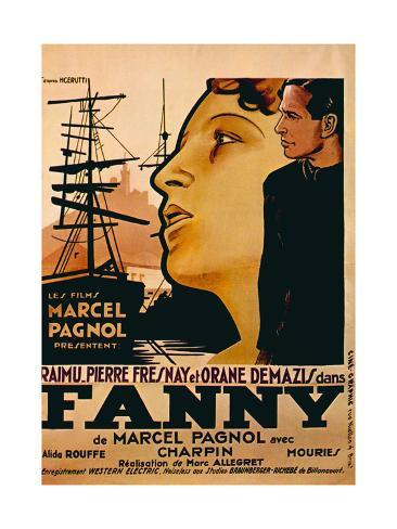 Fanny, from Left: Orane Demazis, Pierre Fresnay, 1932 Reproduction procédé giclée