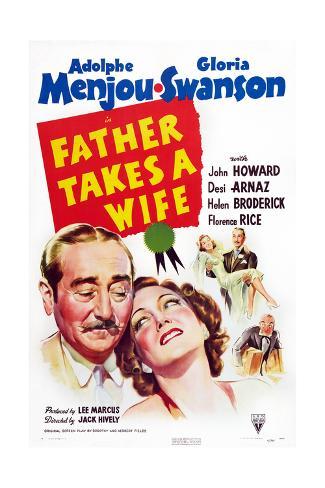 Father Takes a Wife Reproduction procédé giclée
