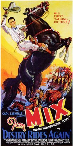Femme ou démon (1932)|Destry Rides Again (1932) Affiche originale
