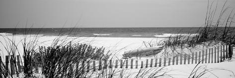 Fence on the Beach, Bon Secour National Wildlife Refuge, Gulf of Mexico, Bon Secour Reproduction photographique