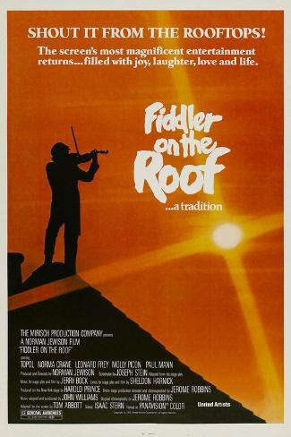 Fiddler on the Roof, 1971 Reproduction procédé giclée