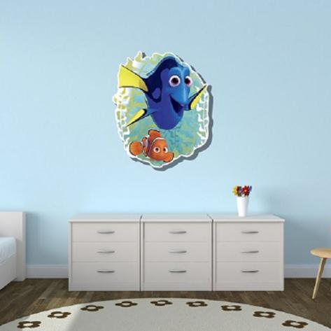 Finding Dory with Nemo Wall Art Silhouettes découpées en carton