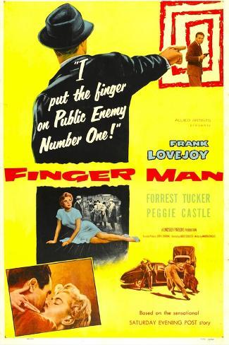 Finger Man Reproduction d'art