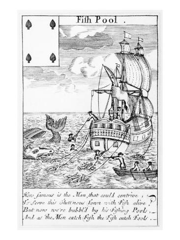 Fish Pool Playing Card Reproduction procédé giclée