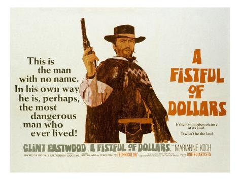 Fistful of Dollars, Clint Eastwood, 1964 Photographie