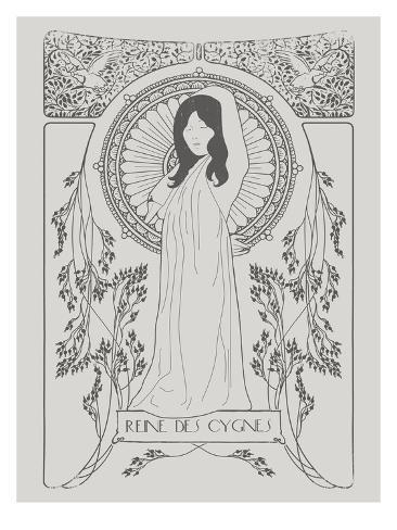 Reine Des Cygnes Grey Reproduction d'art