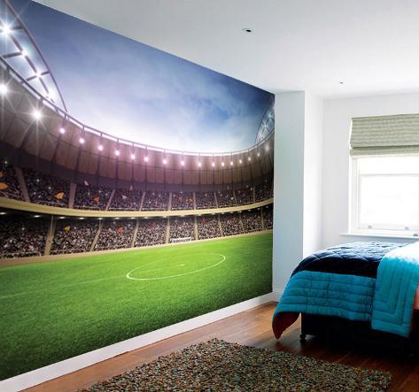 Football Stadium Wall Mural Papier Peint Sur Allposters Fr