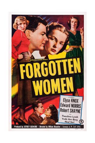 Forgotten Women Reproduction procédé giclée