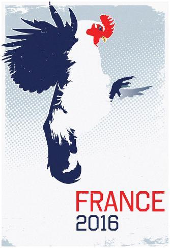 France 2016 Le Coq Gaulois Poster