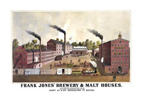 Frank Jones' Brewery and Malt Houses Reproduction d'art