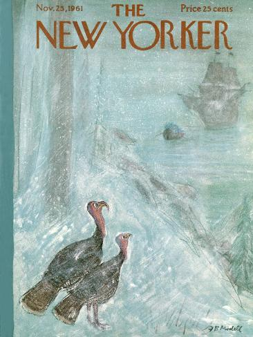 The New Yorker Cover - November 25, 1961 Reproduction giclée Premium