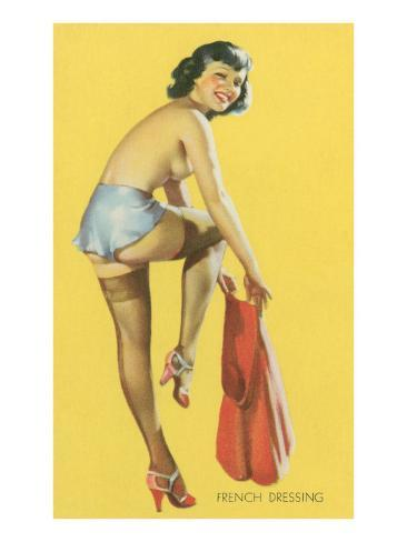 French Dressing, Pinup Reproduction d'art