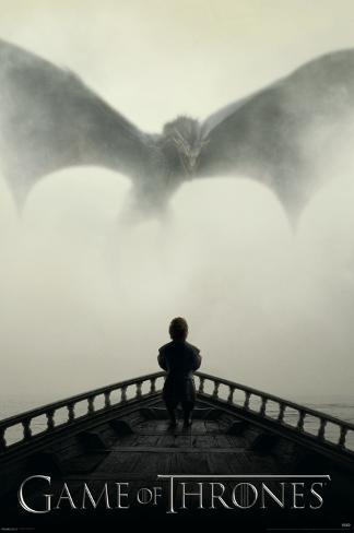 Game of Thrones - Lion & A Dragon Poster