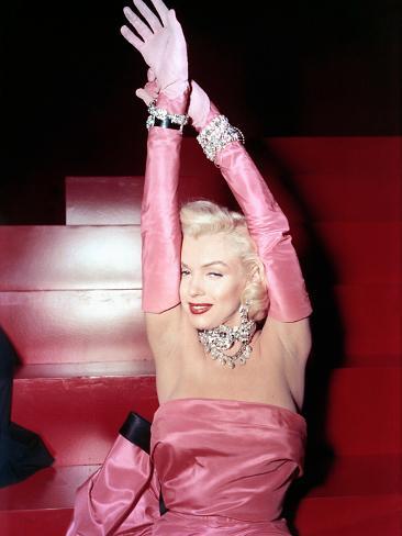 Gentlemen Prefer Blondes, Marilyn Monroe, 1953 Photographie