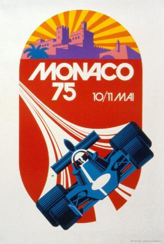 Monaco Grand Prix, 1975 Reproduction d'art