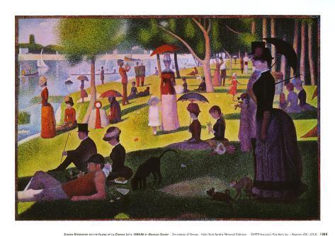 A Sunday on La Grande Jatte 1884, 1884-86 Reproduction d'art