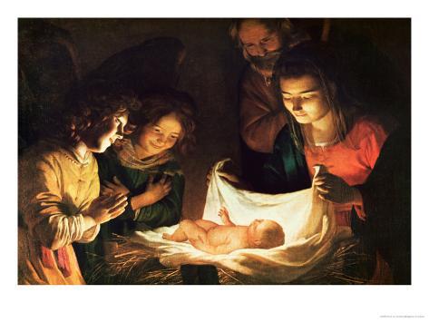 La Nativité Reproduction procédé giclée