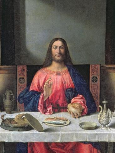 The Supper at Emmaus (Oil on Panel) (Detail of 97010) Reproduction procédé giclée