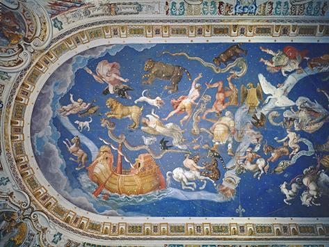 Astrological Ceiling, in the Sala Del Mappamondo Reproduction procédé giclée