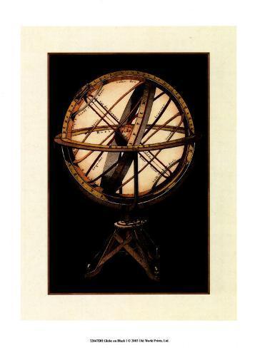 Globe on Black I Reproduction d'art