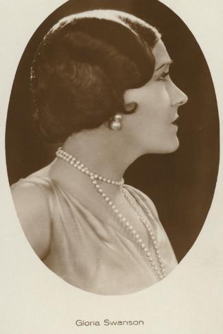 Gloria Swanson, American Actress and Film Star Reproduction photographique
