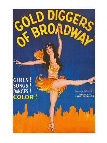 Gold Diggers of Broadway Reproduction d'art