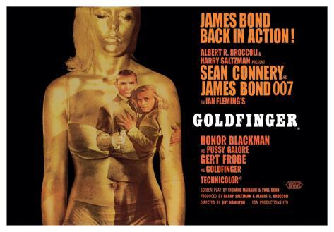Goldfinger-Projection Toile tendue sur châssis