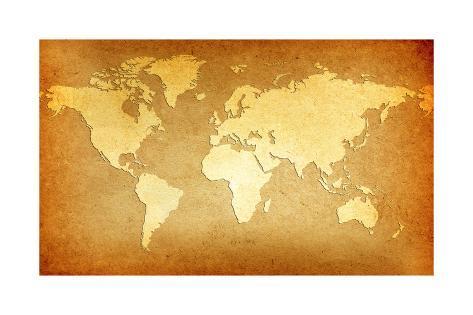 Carte ancienne du monde posters par goliath sur for Ancienne collection maison du monde