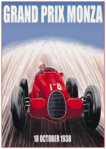 grand prix de monza posters sur. Black Bedroom Furniture Sets. Home Design Ideas