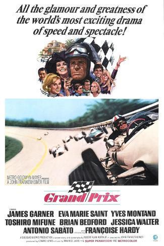 Grand Prix, James Garner, Eva Marie Saint, 1966 Reproduction d'art