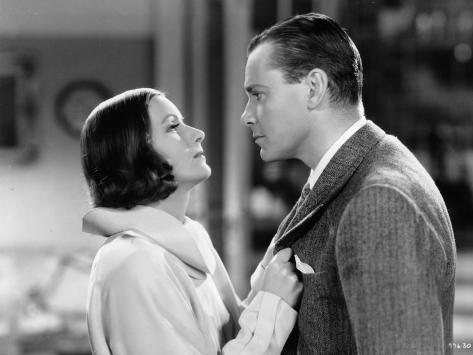 Greta Garbo et Herbert Marshall : The Painted Veil, 1934 Reproduction photographique