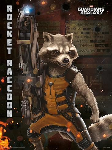 Guardians Of The Galaxy - Rocket Raccoon Affiche originale