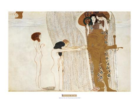 Beethoven Frieze: Desire For Happiness, c.1902 Reproduction d'art