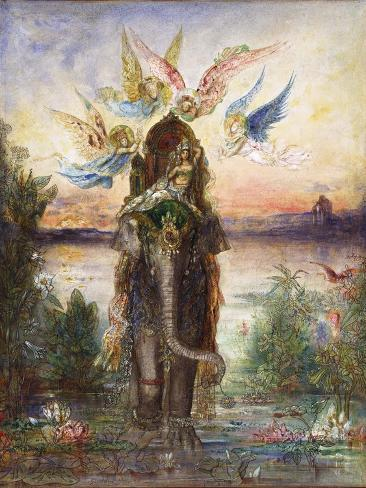 The Sacred Elephant (Pér) Reproduction procédé giclée