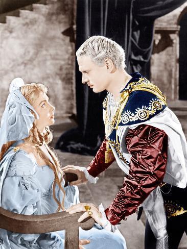 Hamlet, Jean Simmons, Laurence Olivier, 1948 Photographie