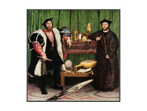 Les ambassadeurs, 1533 Reproduction procédé giclée