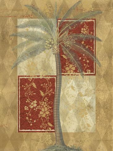 Harlequin Coconut Palm Reproduction d'art