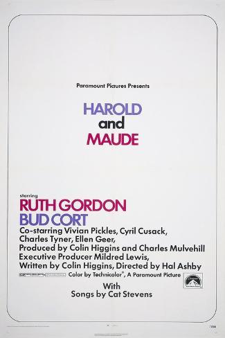 HAROLD AND MAUDE, US poster, 1971 Reproduction giclée Premium